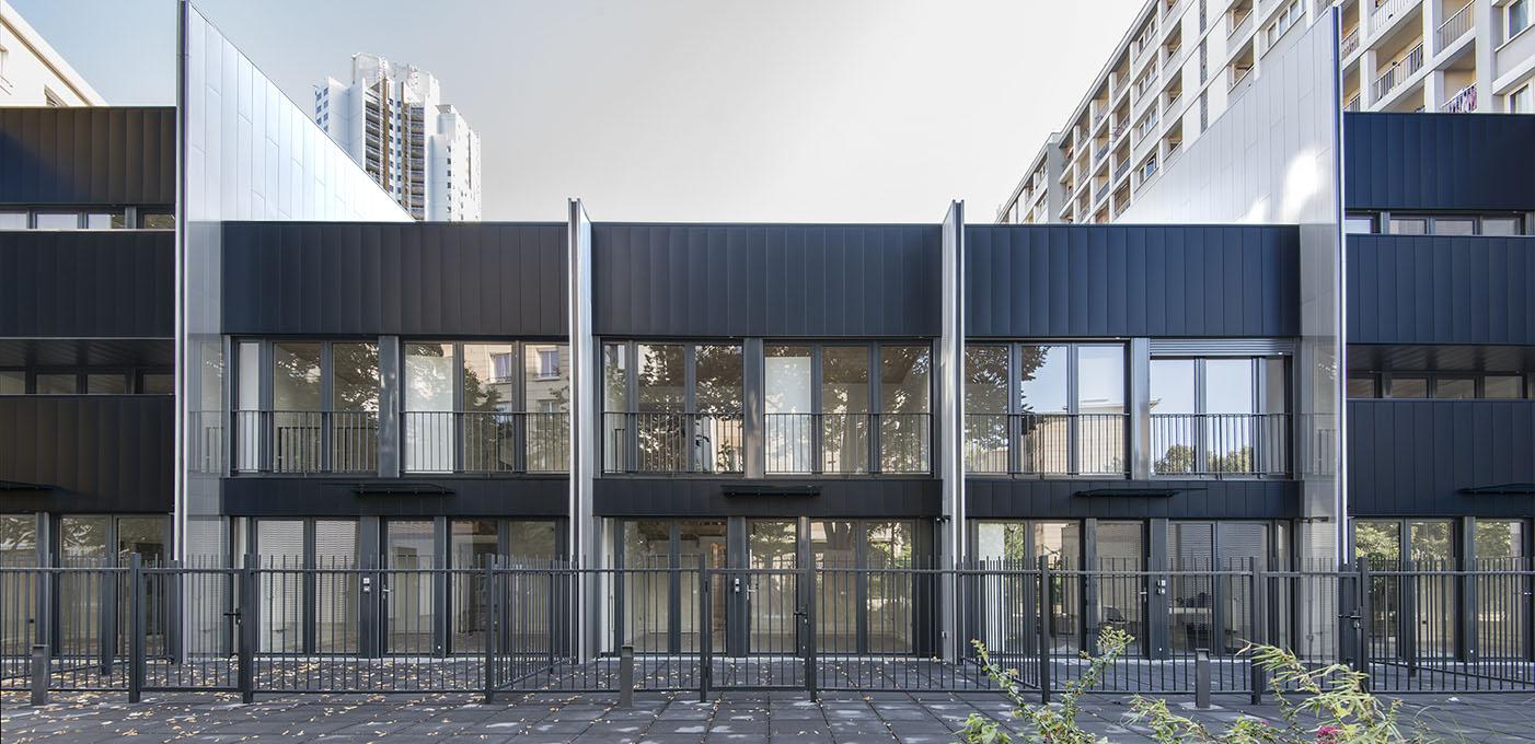 Maisons de ville. Paris Habitat.