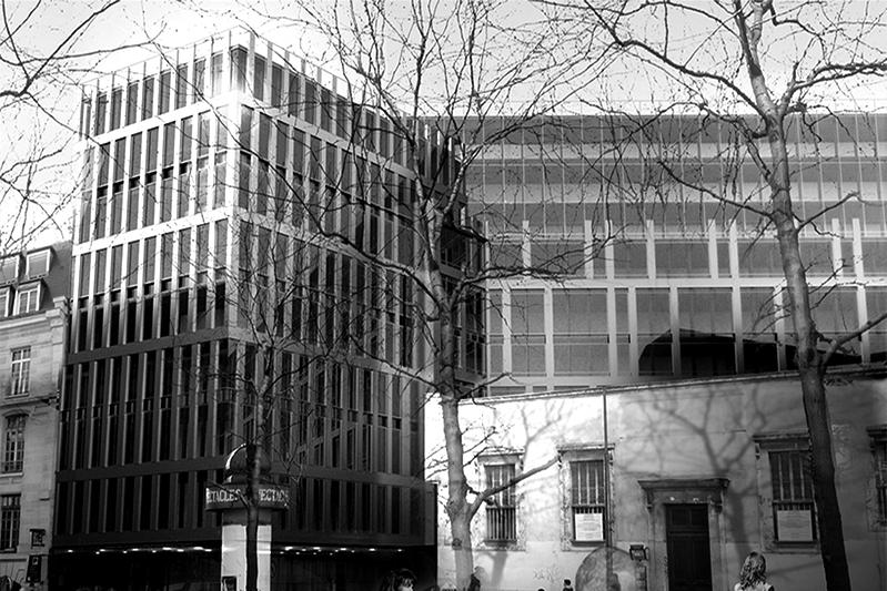Paris facade gare saint lazare archiclub agence d - Bureau de change paris gare de l est ...
